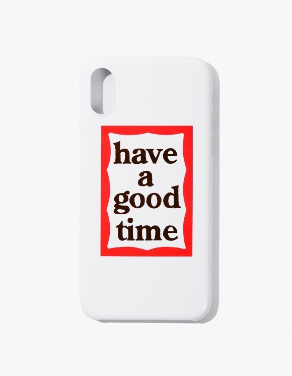 have a good time Frame iPhone Case X - White | HEIGHTS. | 하이츠 온라인 스토어