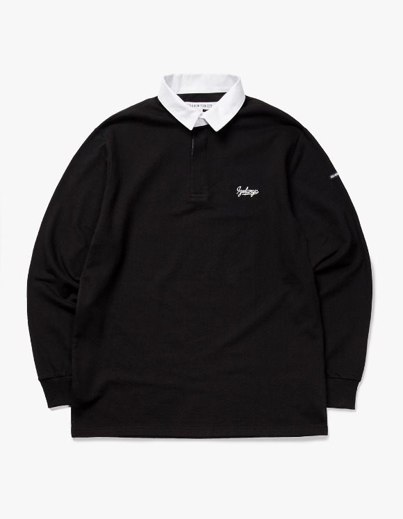 IZOLA NYC Varsity L/S Rugby Tee - Black | HEIGHTS. | 하이츠 온라인 스토어