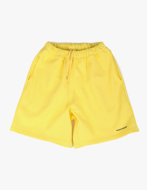 yeseyesee Y.E.S Sweat Shorts - Yellow | HEIGHTS. | 하이츠 온라인 스토어