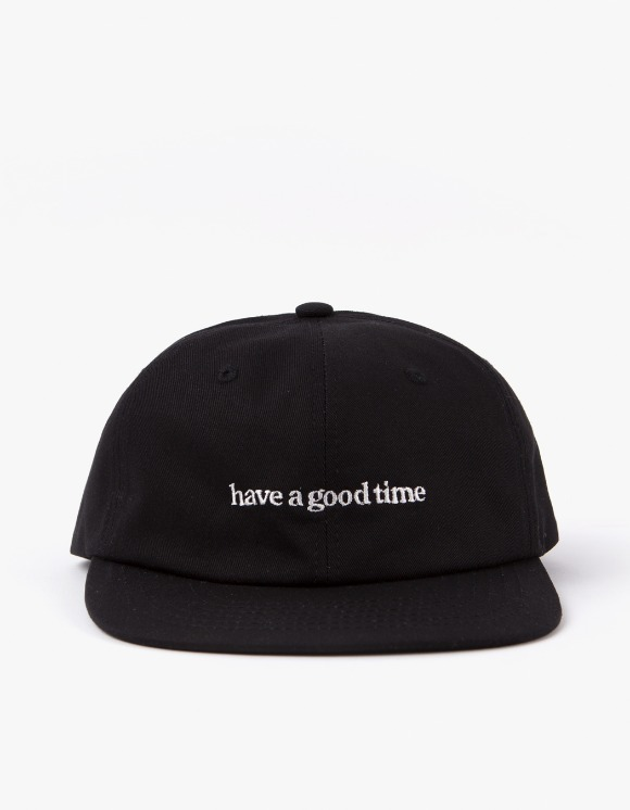 have a good time 6 Panel Side Logo Cap - Black | HEIGHTS. | 하이츠 온라인 스토어