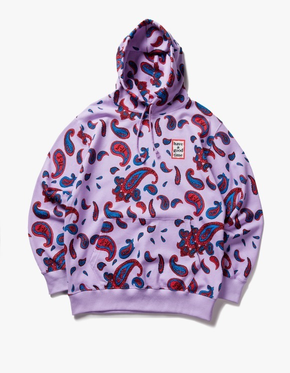 have a good time Paisley Mini Frame Pullover Hoodie - Violet | HEIGHTS. | 하이츠 온라인 스토어