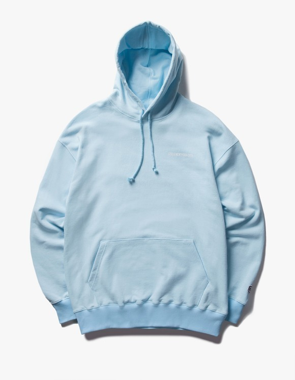 IZOLA NYC Logo Pullover Hoodie - Sky Blue | HEIGHTS. | 하이츠 온라인 스토어