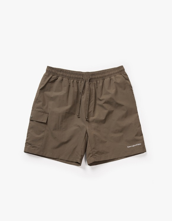 have a good time Aquallum Pocket Shorts - Olive | HEIGHTS. | 하이츠 온라인 스토어