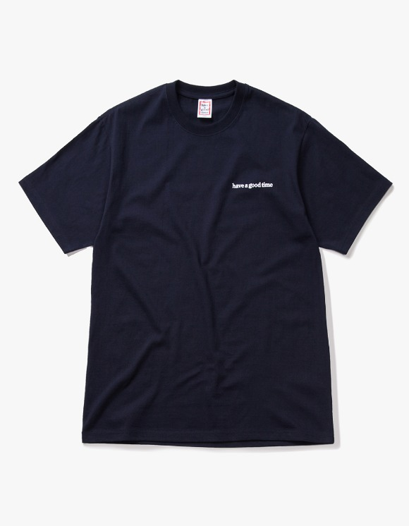 have a good time Side Logo S/S Tee - Navy | HEIGHTS. | 하이츠 온라인 스토어