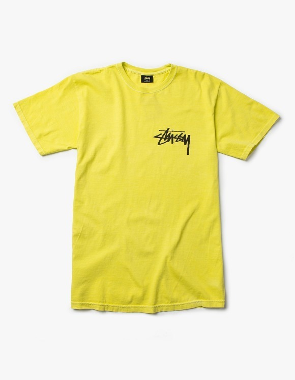 Stussy Stock Pig. Dyed Tee - Lime | HEIGHTS. | 하이츠 온라인 스토어