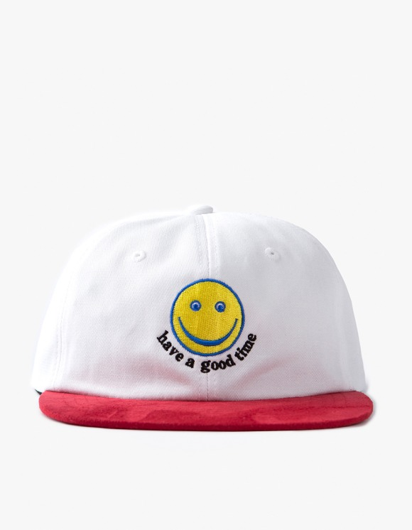 have a good time Smile 6 Panel Cap - White/Red | HEIGHTS. | 하이츠 온라인 스토어