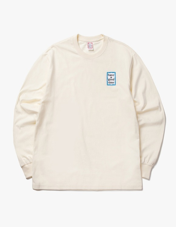 have a good time Blue Mini Frame L/S Tee - Cream | HEIGHTS. | 하이츠 온라인 스토어