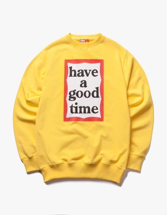 have a good time Frame Crewneck - Lemon | HEIGHTS. | 하이츠 온라인 스토어