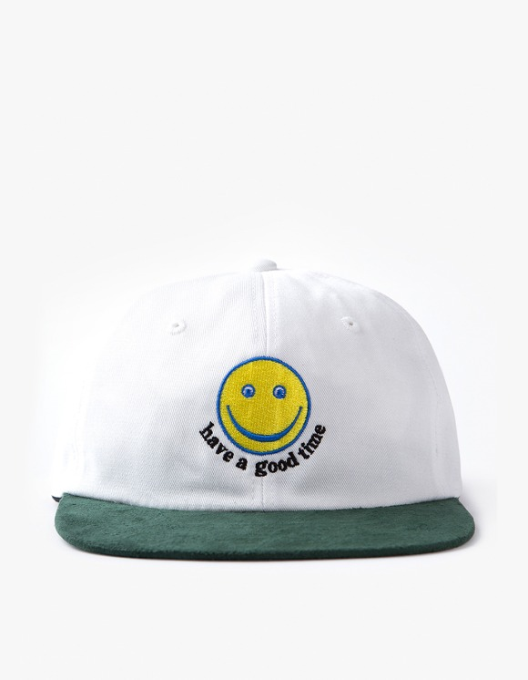 have a good time Smile 6 Panel Cap - White/Green | HEIGHTS. | 하이츠 온라인 스토어