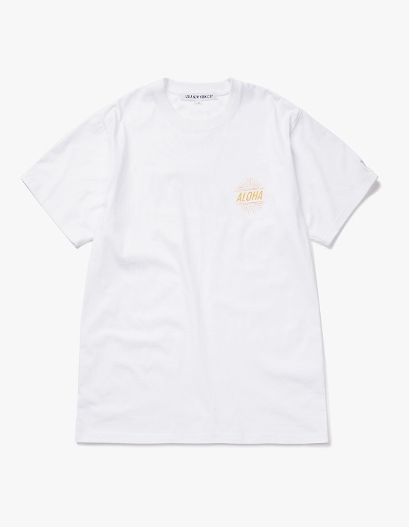 IZOLA NYC Aloha S/S Tee - White | HEIGHTS. | 하이츠 온라인 스토어