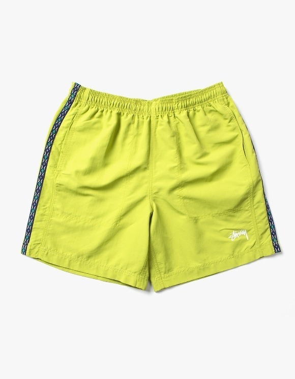 Stussy Taping Nylon Short - Lime | HEIGHTS. | 하이츠 온라인 스토어
