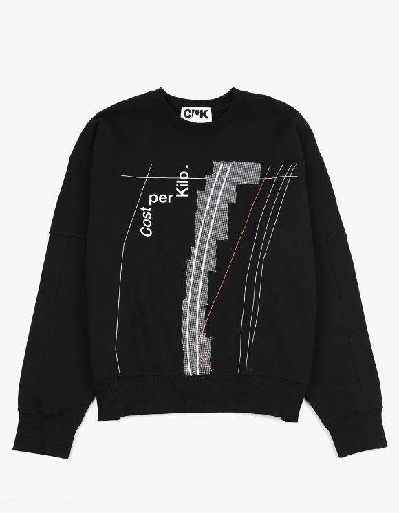 Cost Per Kilo Half Tone Crewneck - Black | HEIGHTS. | 하이츠 온라인 스토어