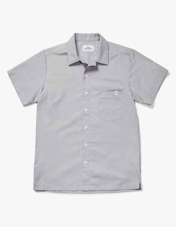 IZOLA NYC Wide Work S/S Shirts - Grey | HEIGHTS. | 하이츠 온라인 스토어