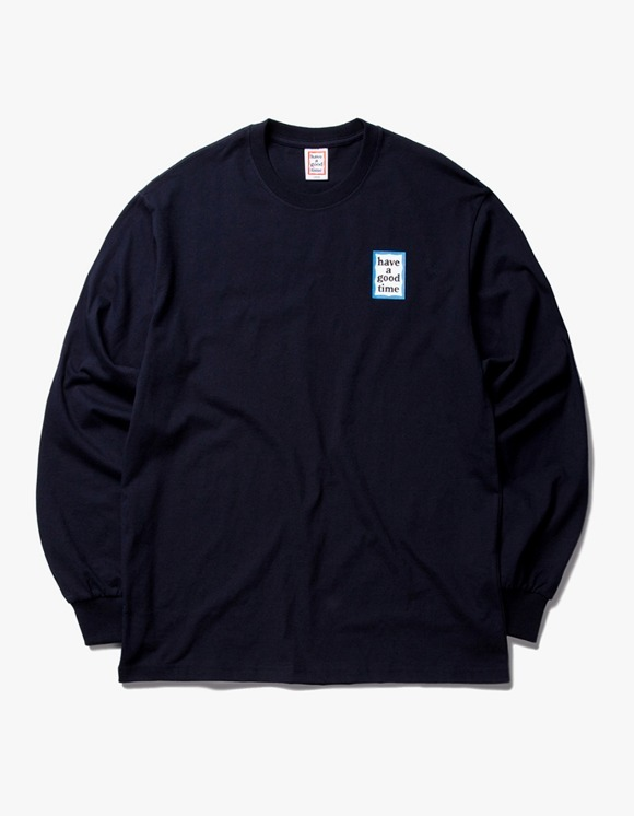 have a good time Blue Mini Frame L/S Tee - Navy | HEIGHTS. | 하이츠 온라인 스토어