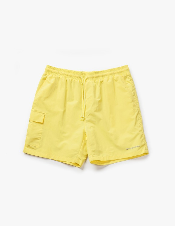 have a good time Aquallum Pocket Shorts - Light Yellow | HEIGHTS. | 하이츠 온라인 스토어