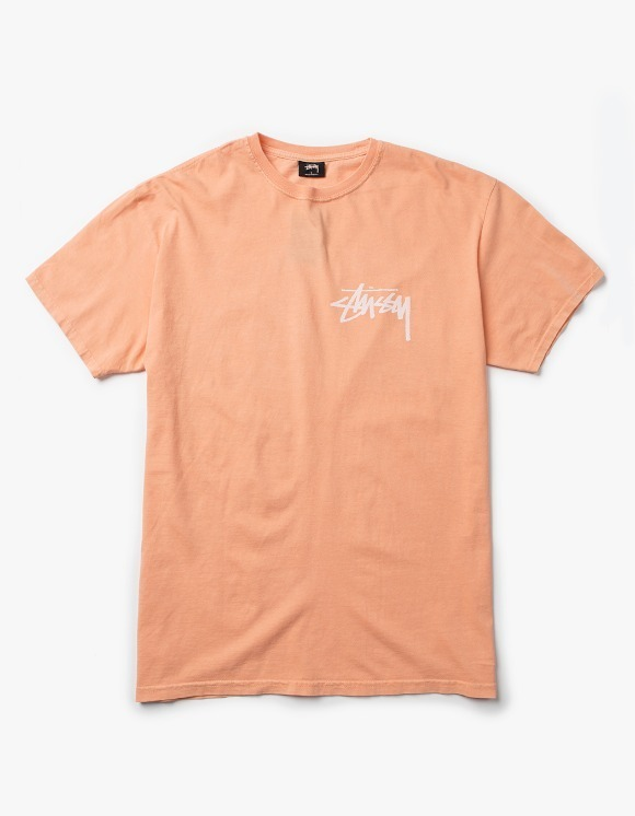 Stussy Stock Pig. Dyed Tee - Coral | HEIGHTS. | 하이츠 온라인 스토어