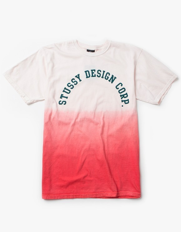 Stussy Design Corp. Dip Dyed Tee - Red | HEIGHTS. | 하이츠 온라인 스토어