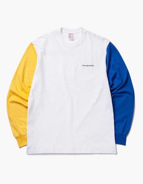 have a good time 3 Color L/S Tee - Yellow / White / Blue | HEIGHTS. | 하이츠 온라인 스토어