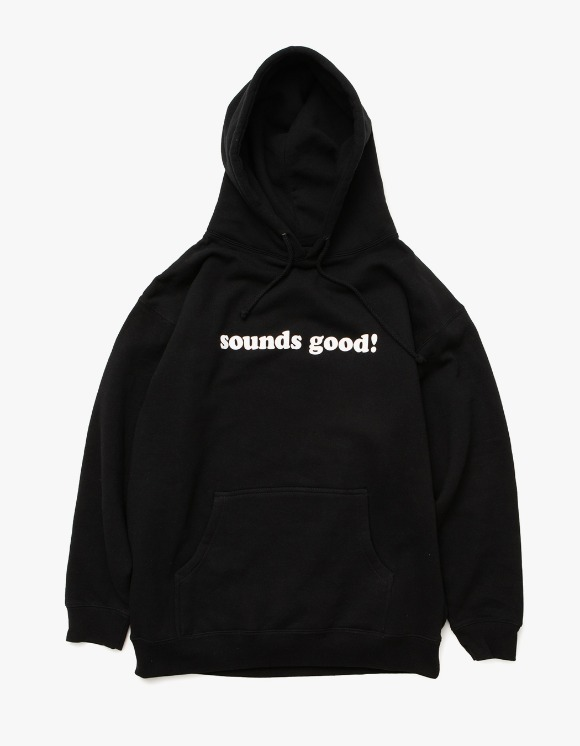 sounds good! Sounds Good Logo Hoodie - Black | HEIGHTS. | 하이츠 온라인 스토어
