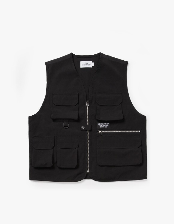 IZOLA NYC Utility Fishing Vest - Black | HEIGHTS. | 하이츠 온라인 스토어