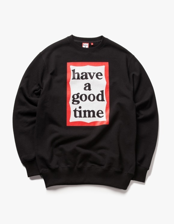 have a good time Frame Crewneck - Black | HEIGHTS. | 하이츠 온라인 스토어