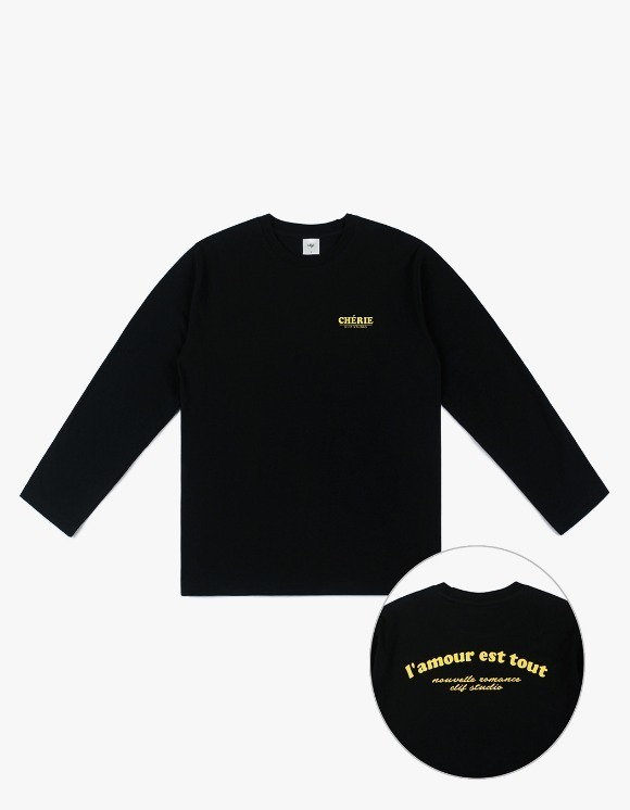 CLIF Amour Long Sleeve Tee - Black | HEIGHTS. | 하이츠 온라인 스토어