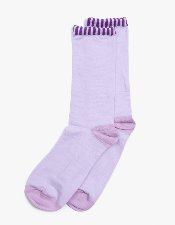 Lu-Chung Border Socks - Purple | HEIGHTS. | 하이츠 온라인 스토어