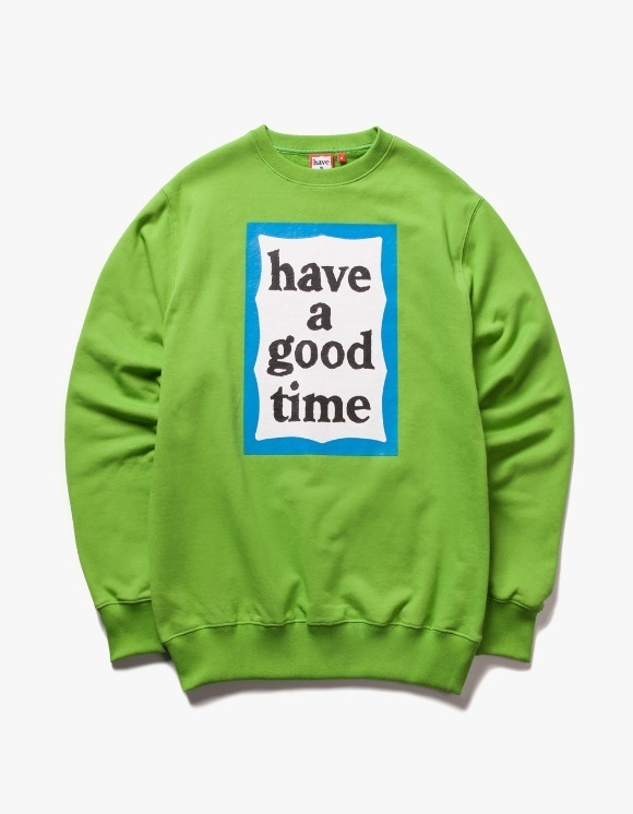 have a good time Blue Frame Crewneck - Leaf Green | HEIGHTS. | 하이츠 온라인 스토어