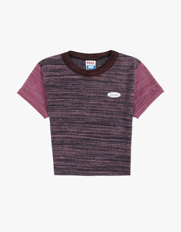 MISCHIEF Space Dyed Color Block Top - Space Dyed Pinks | HEIGHTS. | 하이츠 온라인 스토어