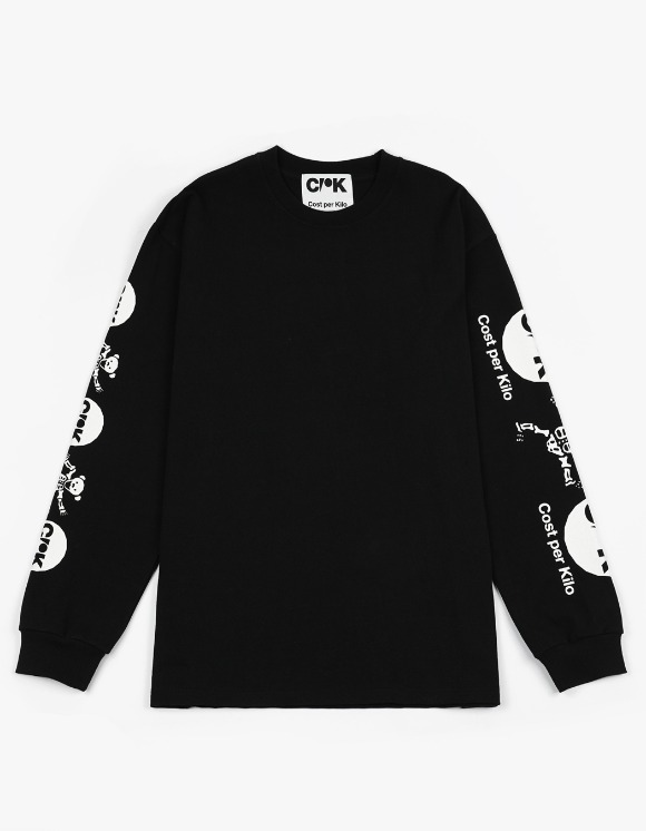 Cost Per Kilo Dead Bear L/S Tee - Black | HEIGHTS. | 하이츠 온라인 스토어