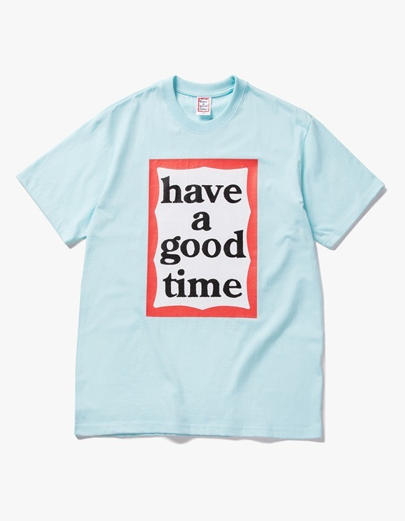 have a good time Big Frame S/S Tee - Sky Blue | HEIGHTS. | 하이츠 온라인 스토어