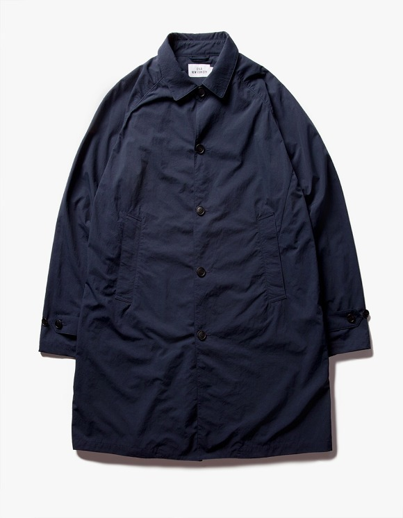 IZOLA NYC Nylon Single Coat - Navy | HEIGHTS. | 하이츠 온라인 스토어