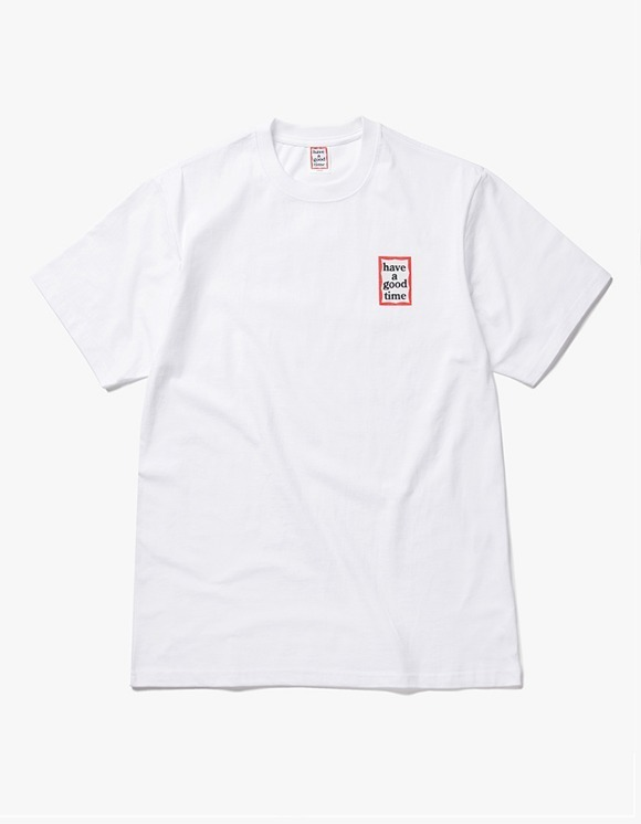 have a good time Mini Frame S/S Tee - White | HEIGHTS. | 하이츠 온라인 스토어
