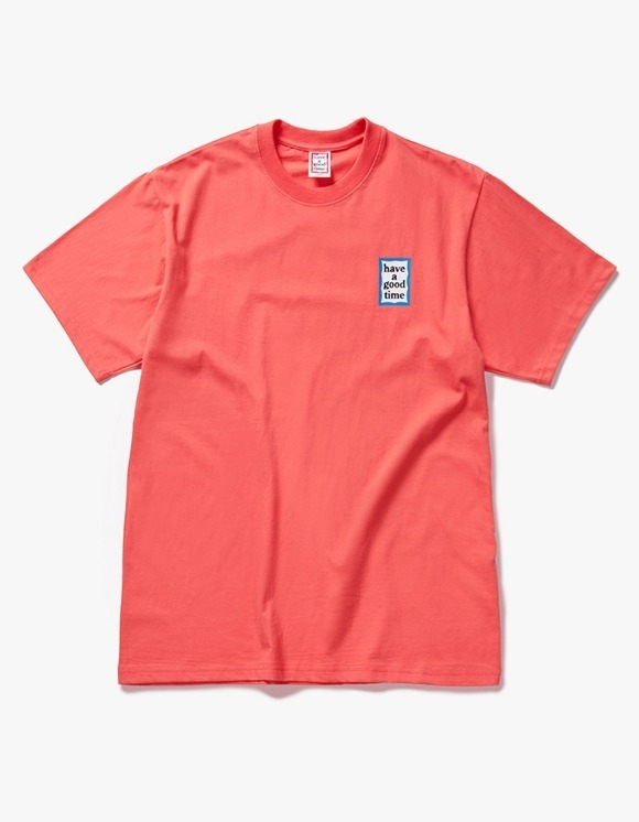 have a good time Mini Blue Frame S/S Tee - Coral | HEIGHTS. | 하이츠 온라인 스토어
