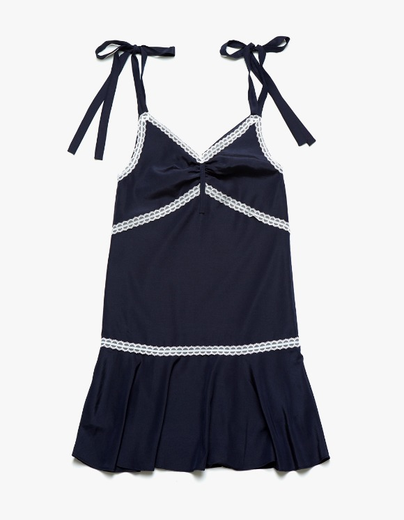 Margarin Fingers Ribbon Slip One-Piece - Navy | HEIGHTS. | 하이츠 온라인 스토어