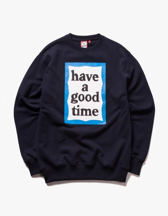 have a good time Blue Frame Crewneck - Navy | HEIGHTS. | 하이츠 온라인 스토어