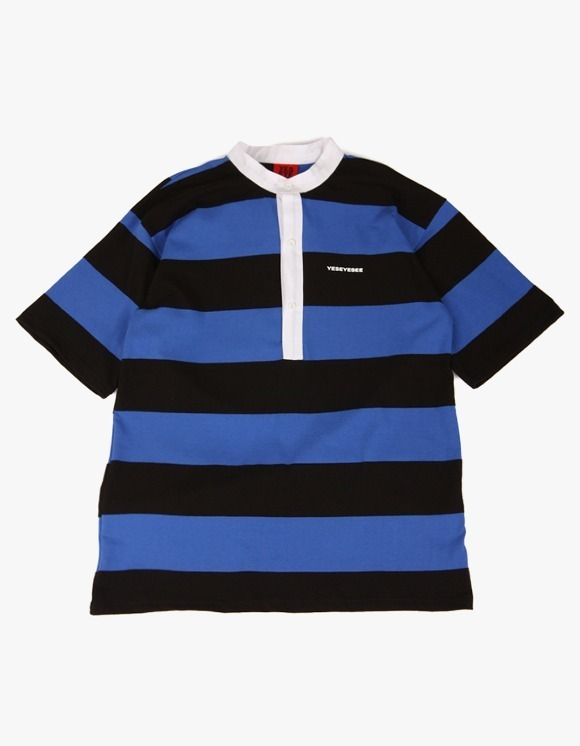 yeseyesee Collar Stripe Tee  - Blue/Black | HEIGHTS. | 하이츠 온라인 스토어