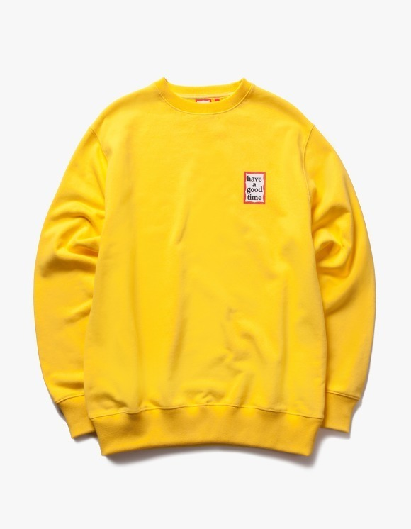 have a good time Mini Frame Crewneck - Lemon | HEIGHTS. | 하이츠 온라인 스토어
