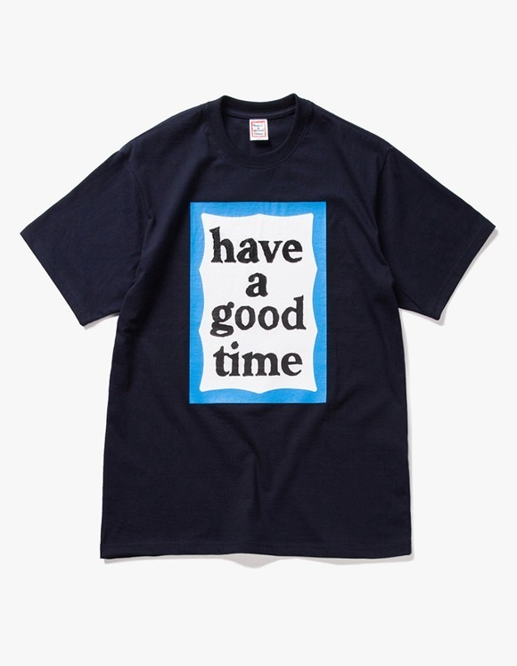 have a good time Big Blue Frame S/S Tee - Navy | HEIGHTS. | 하이츠 온라인 스토어