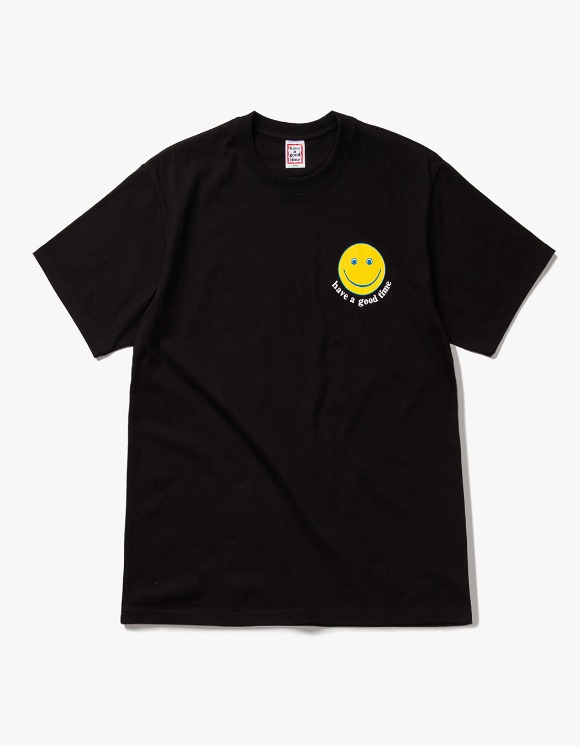 have a good time Smile S/S Tee - Black | HEIGHTS. | 하이츠 온라인 스토어