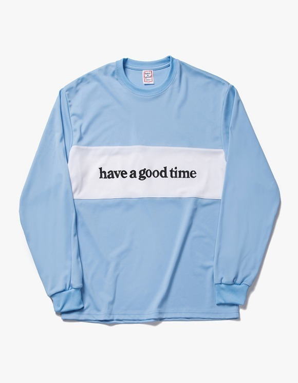 have a good time Panel Jersey L/S Tee - Blue | HEIGHTS. | 하이츠 온라인 스토어