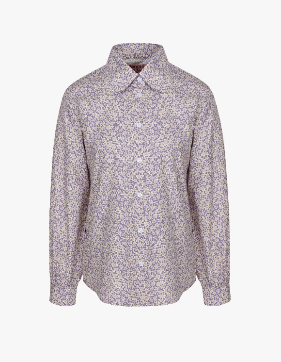 Margarin Fingers Floral Collar Shirt - Lavender | HEIGHTS. | 하이츠 온라인 스토어