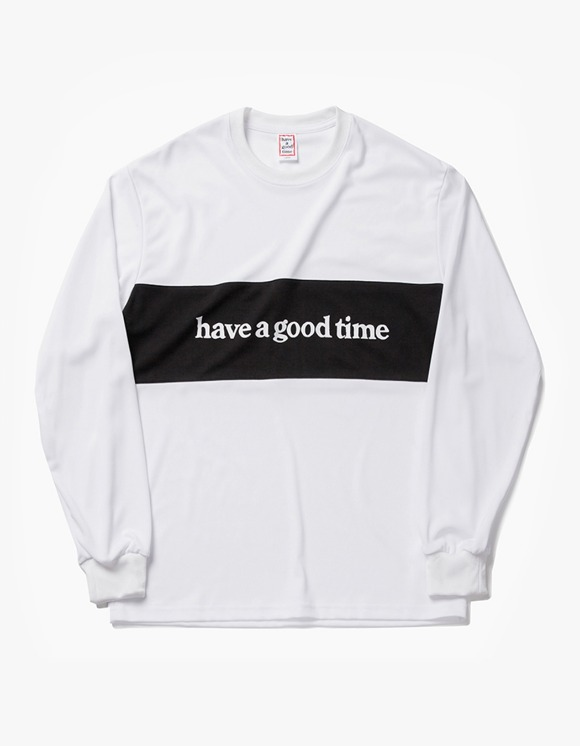 have a good time Panel Jersey L/S Tee - White | HEIGHTS. | 하이츠 온라인 스토어