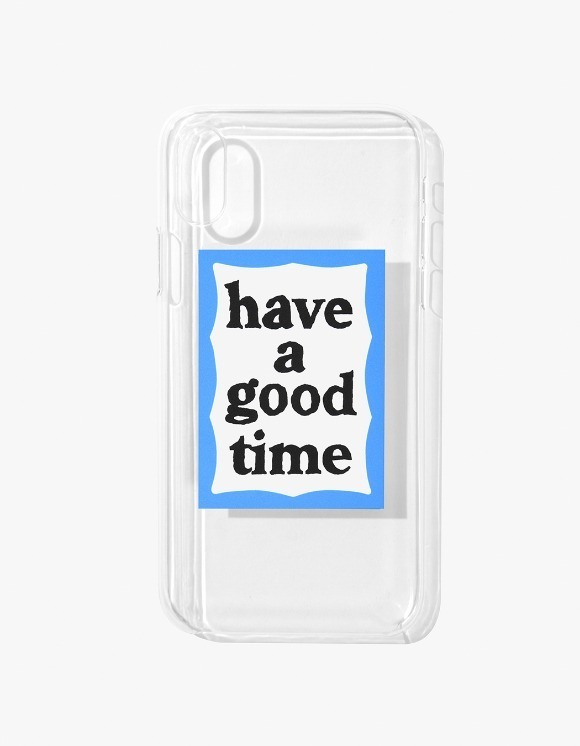 have a good time Blue Frame iPhone Case X - Clear | HEIGHTS. | 하이츠 온라인 스토어