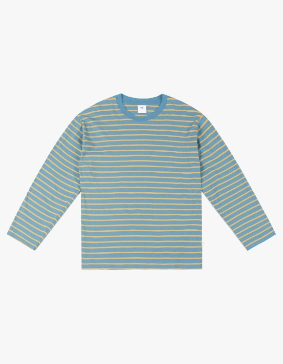 CLIF Stripe Long Sleeve Tee - Blue | HEIGHTS. | 하이츠 온라인 스토어