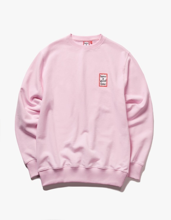 have a good time Mini Frame Crewneck - Pink | HEIGHTS. | 하이츠 온라인 스토어