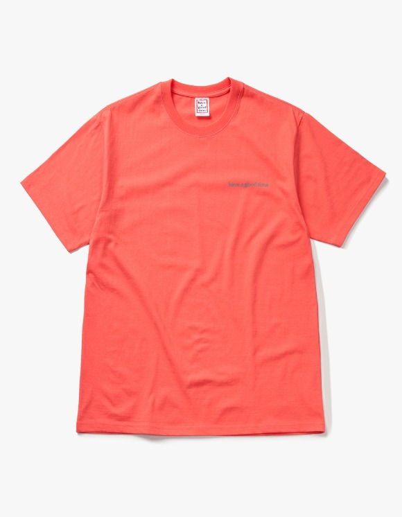 have a good time Side Logo S/S Tee - Coral | HEIGHTS. | 하이츠 온라인 스토어