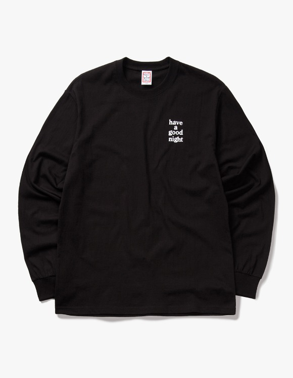 have a good time have a good night L/S Tee - Black | HEIGHTS. | 하이츠 온라인 스토어