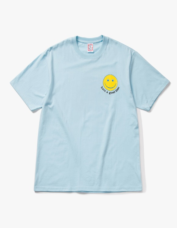 have a good time Smile S/S Tee - Sky Blue | HEIGHTS. | 하이츠 온라인 스토어