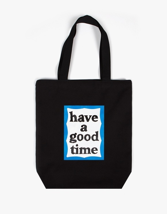 have a good time Blue Frame Tote Bag - Black | HEIGHTS. | 하이츠 온라인 스토어